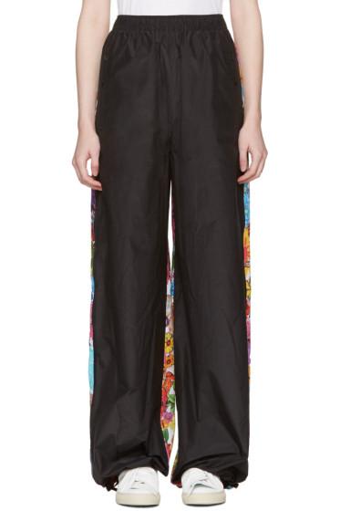 Ports 1961 - Black Floral Drawstring Trousers