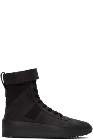 Fear of God - Black Military High-Top Sneakers