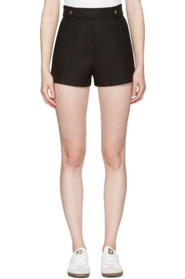 Courrèges - Black Button Belt Shorts