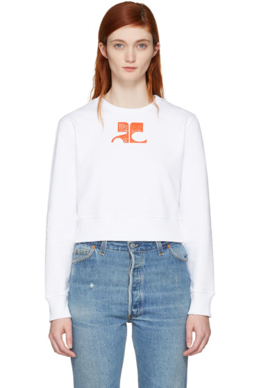 Courrèges - White Short Logo Sweatshirt