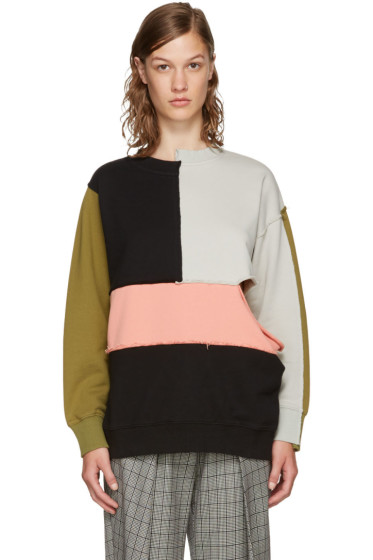 Perks and Mini - Multicolor Complex Split Sweatshirt