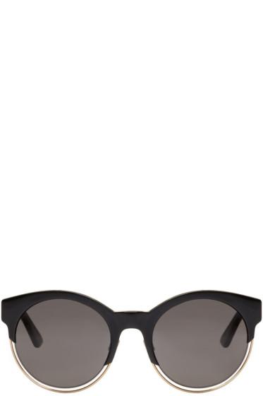 Dior - ブラック ラウンド サングラス