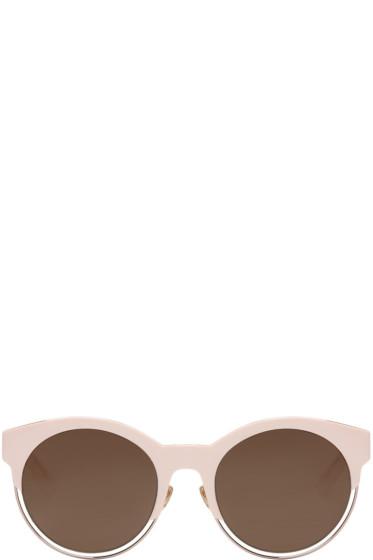Dior - ピンク ラウンド サングラス