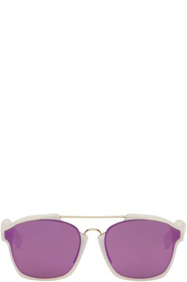 Dior - ホワイト アブストラクト サングラス