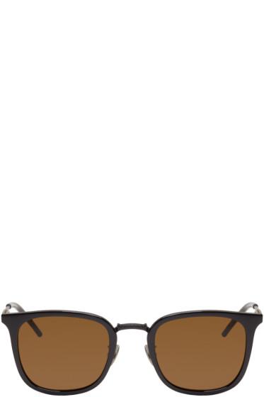 Bottega Veneta - Black Square Sunglasses