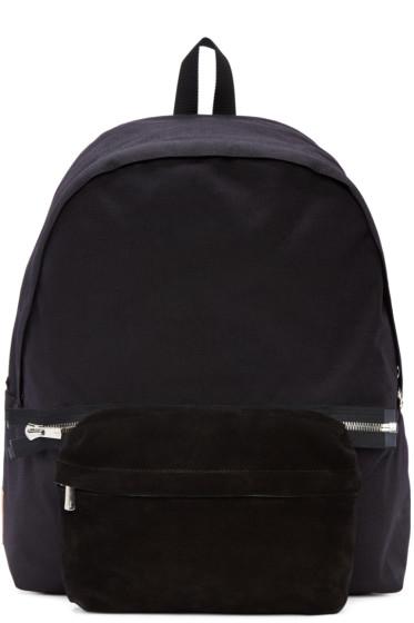 Hender Scheme - Black Nylon & Suede Backpack