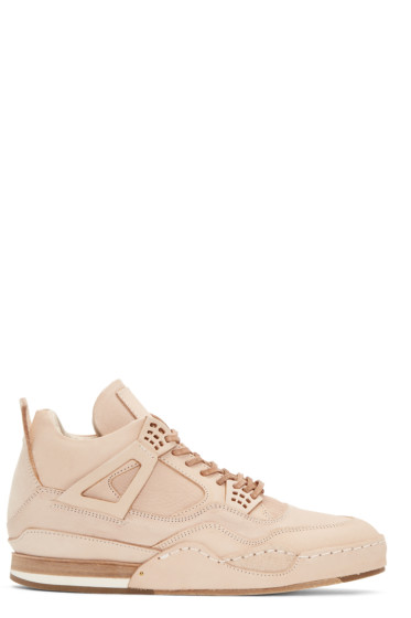 Hender Scheme - Beige Manual Industrial Products 10 High-Top Sneakers