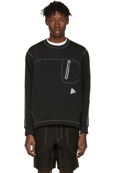 and Wander - Black Ponte Pullover