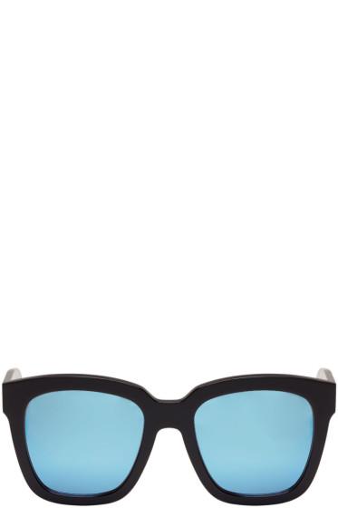 Gentle Monster - Black & Blue Mirror Dreamer Hoff Sunglasses