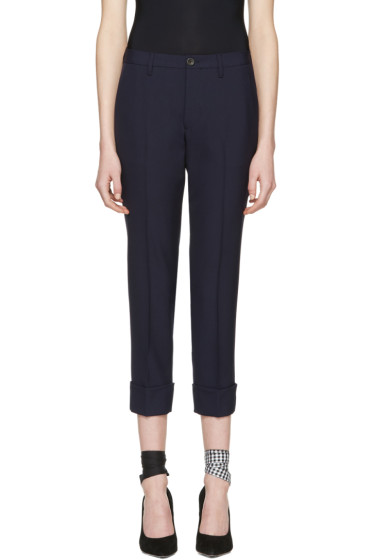 Miu Miu - Navy Wool Trousers