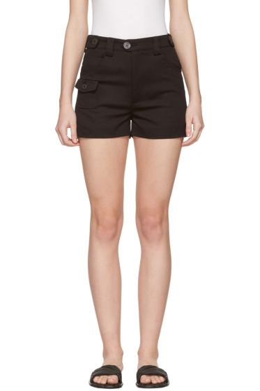 Miu Miu - Black Cotton Shorts