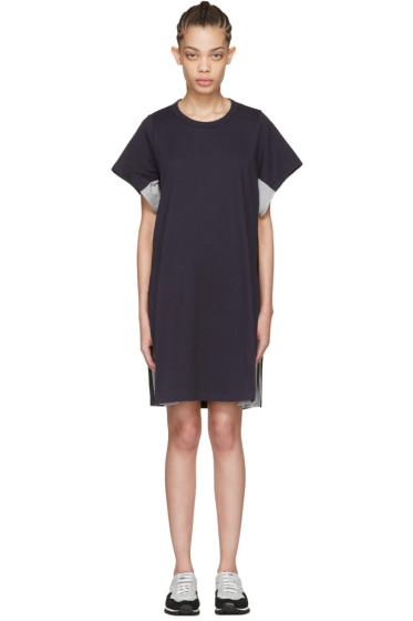 Harikae  - Navy Lace T-Shirt Dress