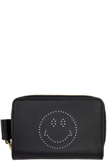 Anya Hindmarch - Black Compact Wink Wallet