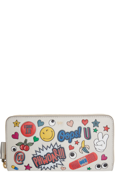 Anya Hindmarch - Ivory Large Wink Stickers Wallet