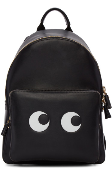 Anya Hindmarch - Black Mini Eyes Right Backpack