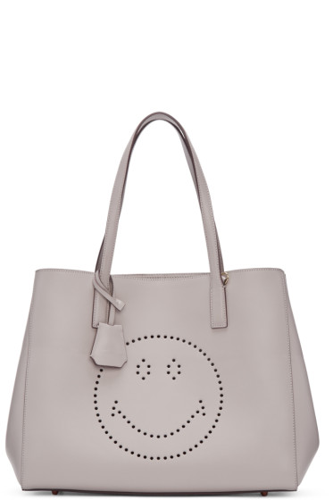 Anya Hindmarch - Grey Ebury Smiley Shopper Tote