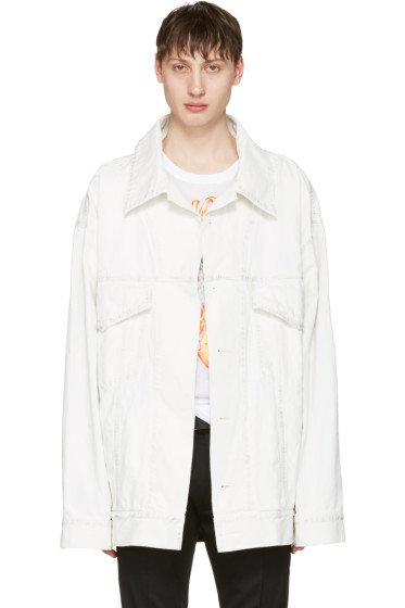 Faith Connexion - White Oversized Denim Jacket