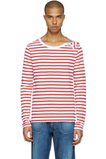 Faith Connexion - Red & White Striped T-Shirt