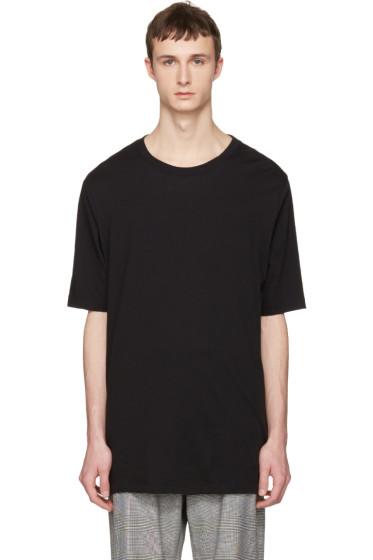 Faith Connexion - Black Oversized Distressed T-Shirt