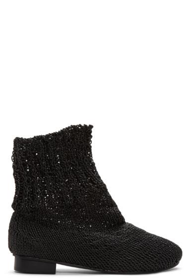 Bless - Black Eram Knit Boots