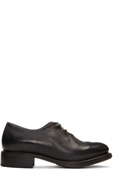 Cherevichkiotvichki - Black One-Piece Goodyear Derbys