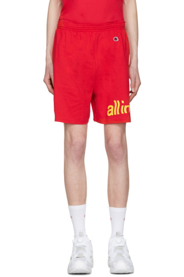 all in - Red Champion Edition Logo Shorts