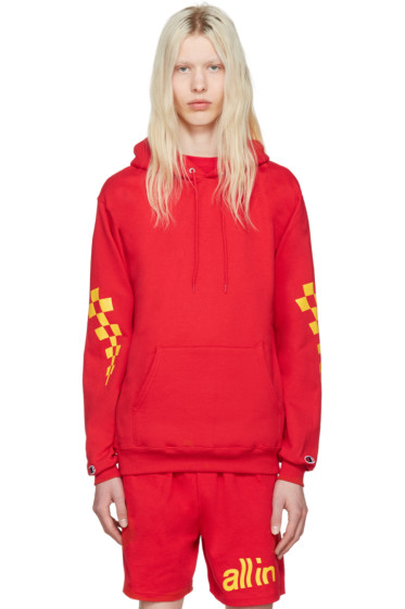 all in - Red Champion Edition Logo Hoodie