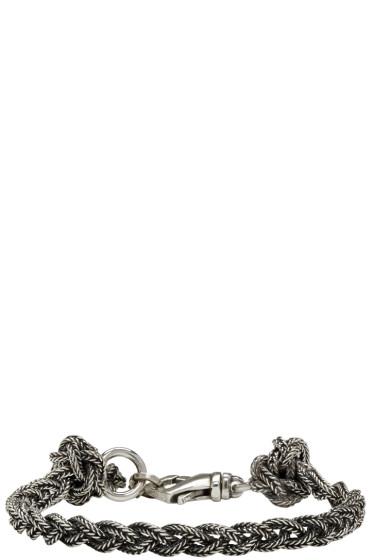 Emanuele Bicocchi - Silver Braided Knot Bracelet