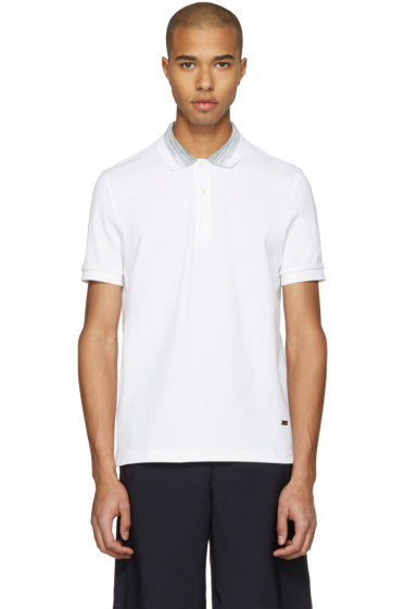 Missoni - White Contrast Collar Polo