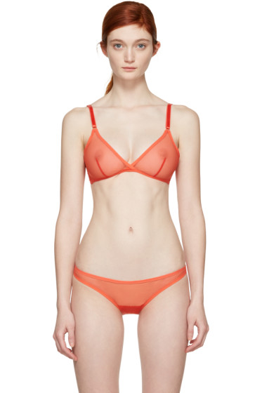 Yasmine Eslami - Orange Jeanne Soft Bra