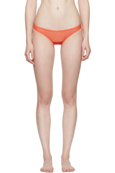 Yasmine Eslami - Orange Jeanne Mini Briefs