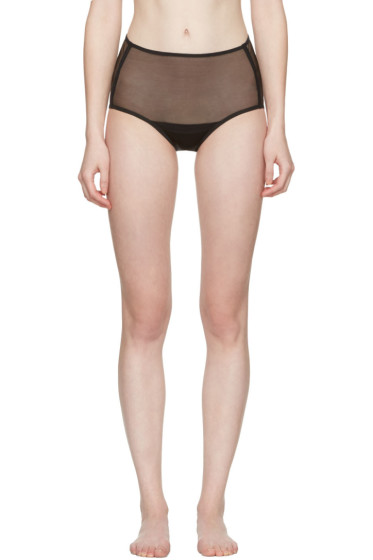 Yasmine Eslami - Black Serena High Briefs