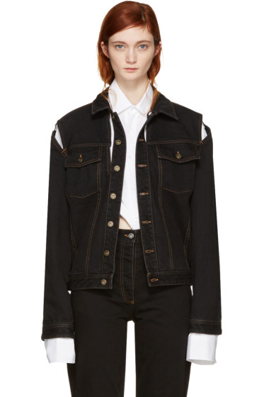 Y/Project - Black Denim Cut-Out Jacket