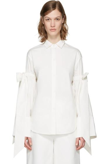Shushu/Tong - ホワイト ダブル ボウ シャツ