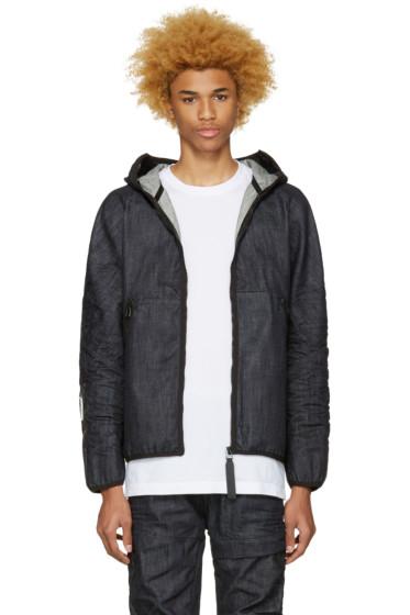 Raw Research - Indigo Denim Strett Gymbag Jacket
