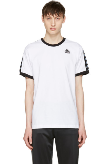 Kappa - SSENSE Exclusive White & Black Authentic Vale T-Shirt