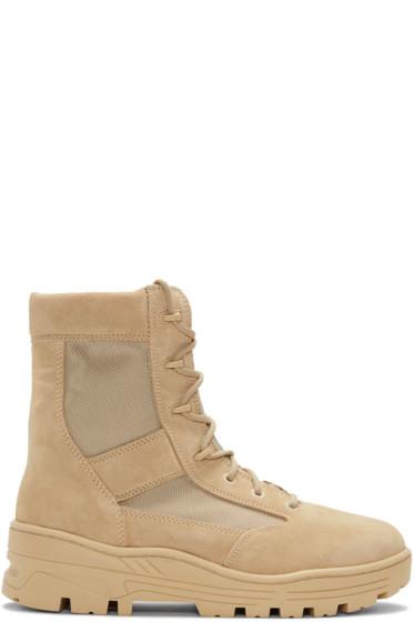 YEEZY - Beige Combat Boots