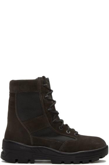 YEEZY - Black Combat Boots
