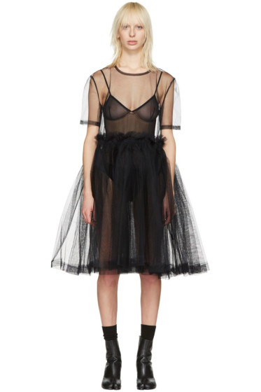 Molly Goddard - ブラック ヤング クラシック ドレス