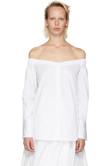 Rag & Bone - SSENSE Exclusive White Kacy Off-the-Shoulder Blouse