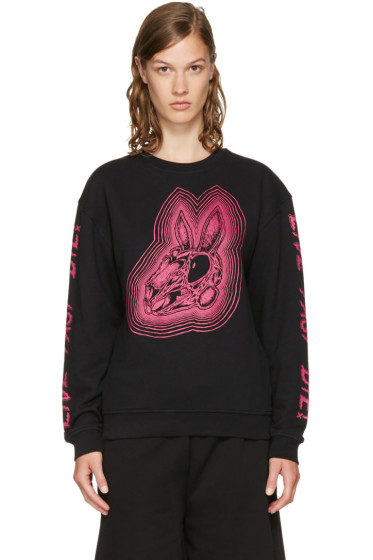 McQ Alexander McQueen - Black 'Bunny Be Here Now' Sweatshirt