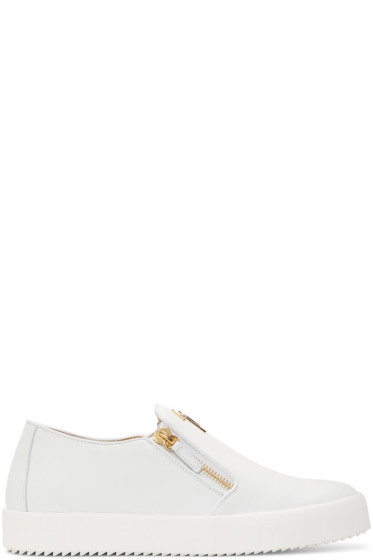 Giuseppe Zanotti - White May London Slip-On Sneakers