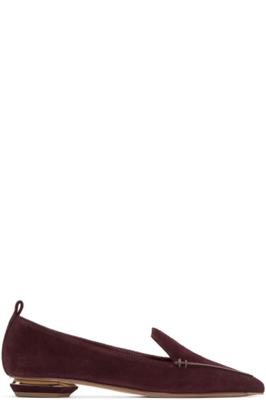Nicholas Kirkwood - Purple Suede Beya Loafers