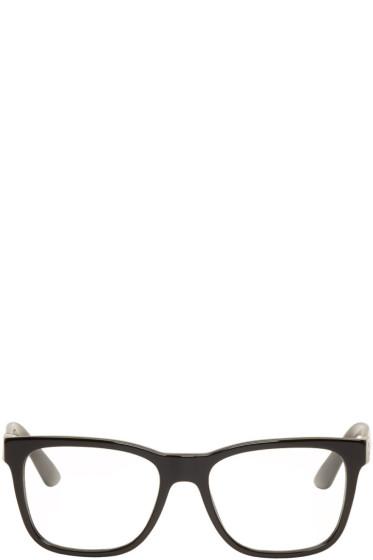 Versace - ブラック レクタンギュラー グラス