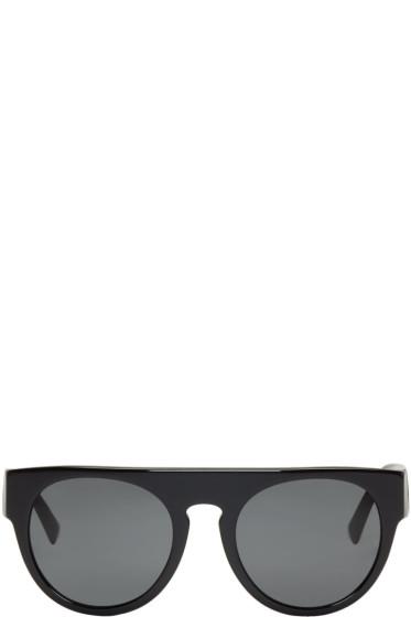 Versace - ブラック ロック グレカ サングラス