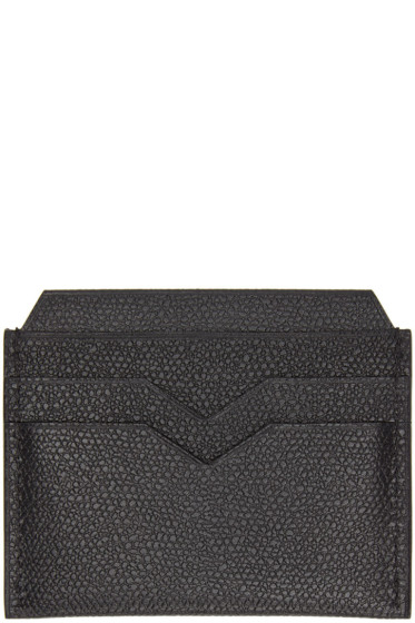 Valextra - Black 4CC Card Holder