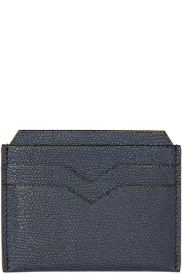 Valextra - Navy 4CC Card Holder