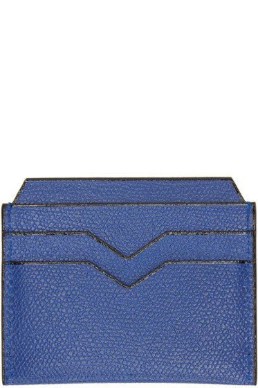 Valextra - Blue 4CC Card Holder