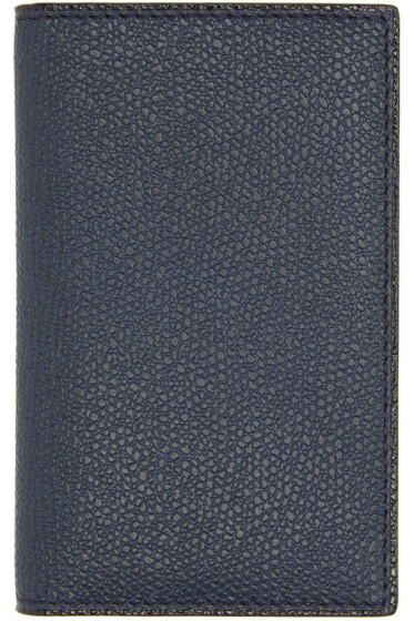 Valextra - Navy Business Card Holder