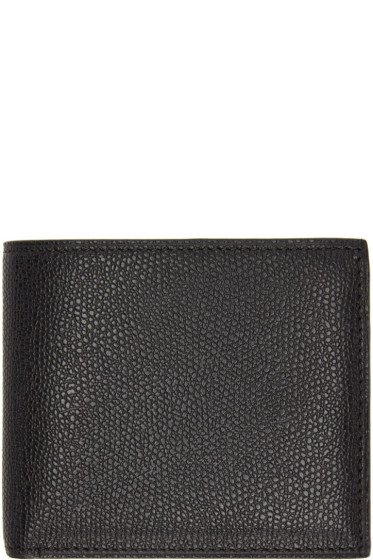 Valextra - Black 6CC Bifold Wallet